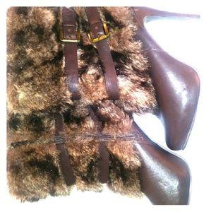 Rue 21 fur heel boots